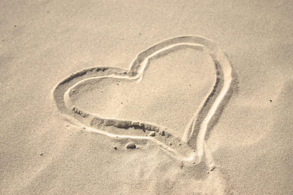 Srdce v písku