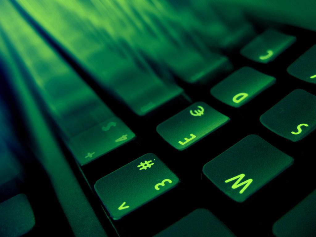 Frčící klávesnice