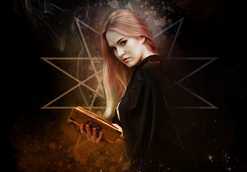 Čarodějka s pentagramem