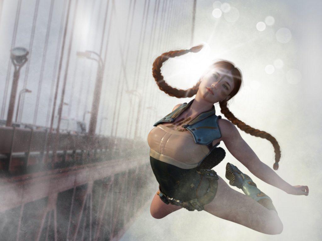 Adrenalinově letící žena