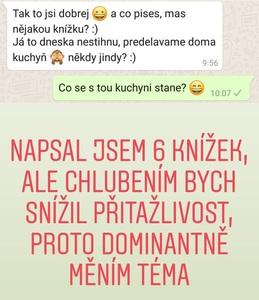 Chat s ženou na WhatsApp