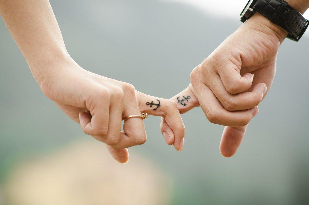 Pevné spojení zamilovaného páru